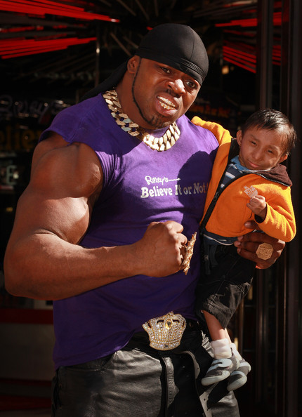 Britain's Biggest Biceps vs Worlds Smallest Man