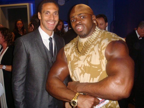 Rio Ferdinand & Tiny Iron Red Carpet
